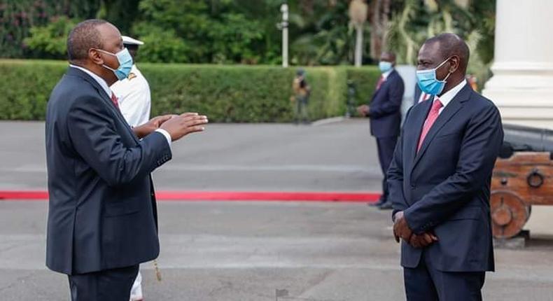 File image of President Uhuru Kenyatta with Deputy President William Ruto