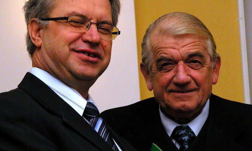 Krzysztof Michałkiewicz i prof. Zbigniew Religa