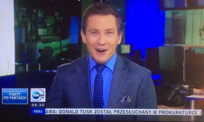 Wpadka na żywo w TVN