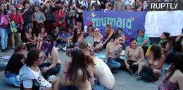 Nagi protest feministek w Argentynie