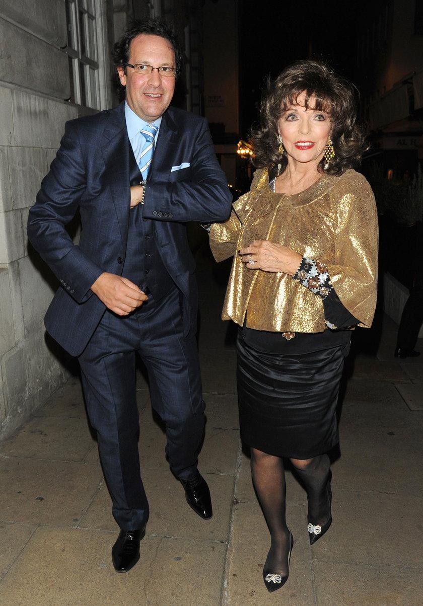 Joan Collins z mężem