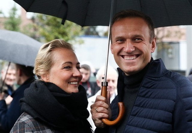 Julija i Aleksej Navaljni