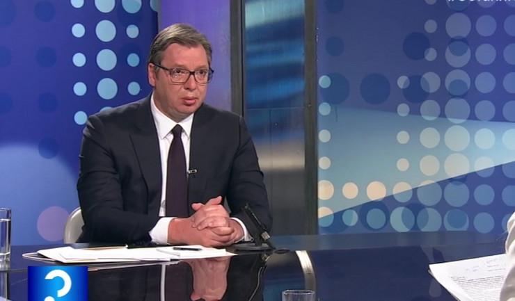 Aleksandar Vučić, upitnik RTS