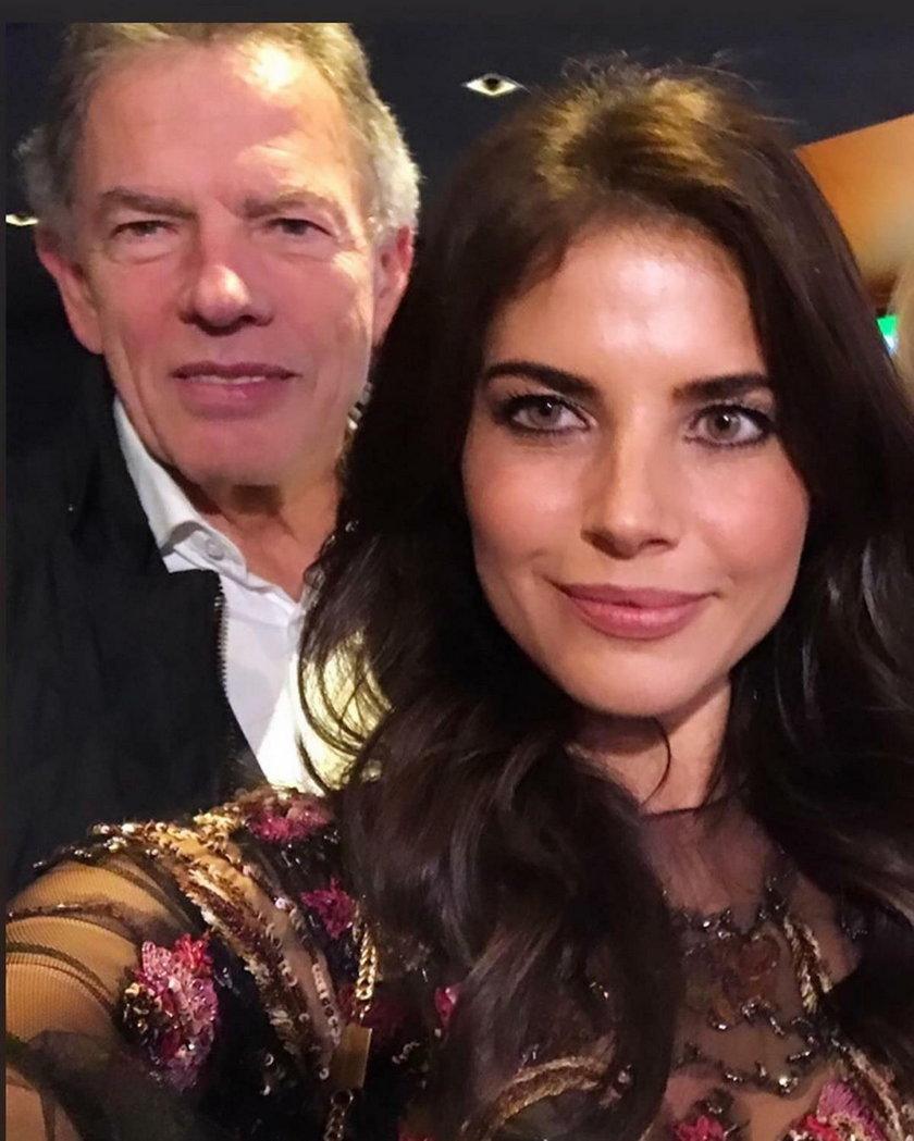 Weronika Rosati z tatą