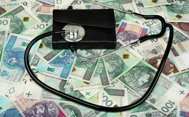 Stetoskop i pieniądze