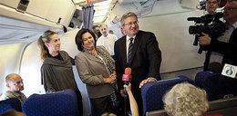 Komorowski na pokładzie rejsowego samolotu poleciał do...