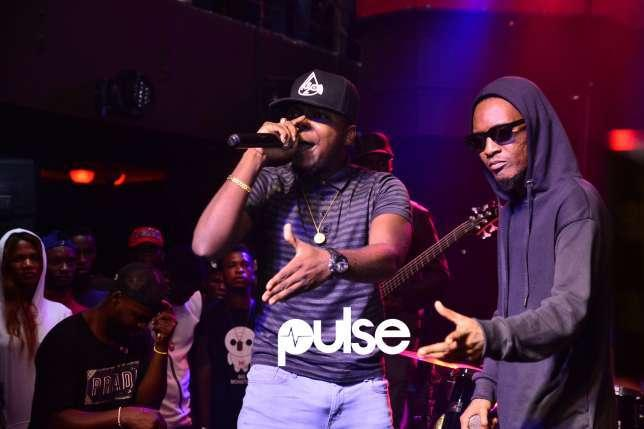 Jesse Jagz performing with Hotyce at the Industry Nite edition of his Odysseus listening party