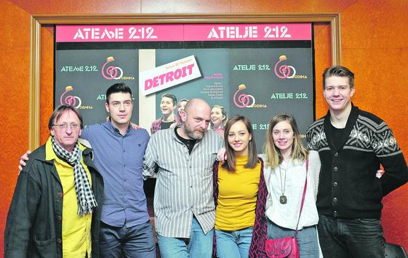 Erol Kadić, Uroš Jakovljević, Oleg Novković, Jovana Stojiljković, Ivana Vuković i Dejan Dedić