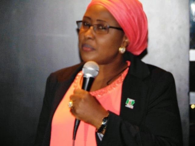 Mrs Aisha Buhari during an interactive session in London