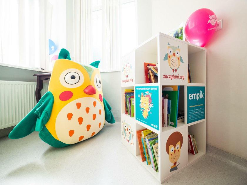 Biblioteka dla małych pacjentów w szpitalu Korczaka