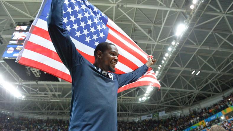 Koszykarz reprezentacji Stanów Zjednoczonych podczas IO w Rio de Janeiro