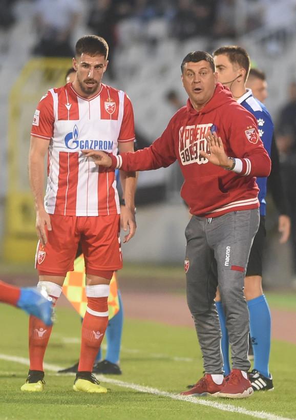 Miloš Degenek i Vladan Milojević na 161. večitom derbiju
