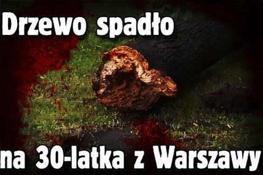 Drzewo spadło na 30-latka z Warszawy