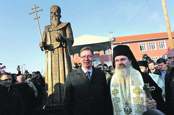 Aleksandar Vučić Kosovo Milutinu