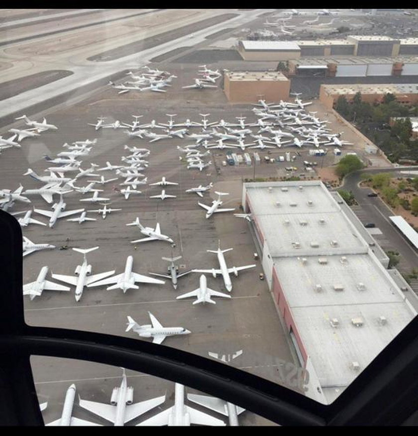 Samoloty bogaczy zakorkowały lotnisko w Las Vegas