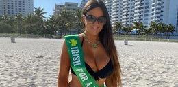 Modelka świętuje na plaży. Nie za ostro? Wczasowicze osłupieli!