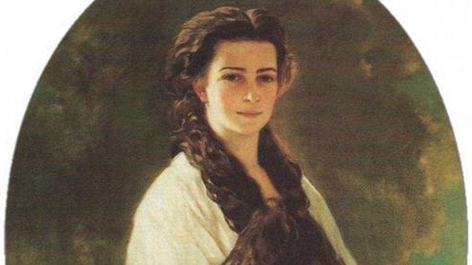 Rysunek przedstawia księżniczkę Elżbietę Bawarską- domena publiczna
