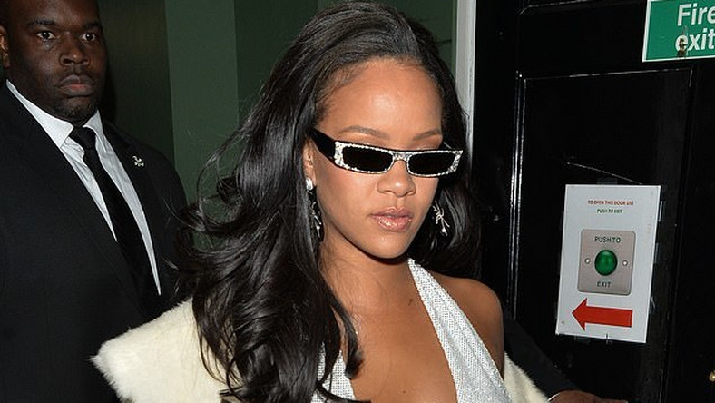 Rihanna spotted stepping out the back door of exclusive members club Annabelle's in London after celebrating New Years with friends and family
