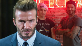 David Beckham pozuje z synem. Przystojny jak sławny tata?