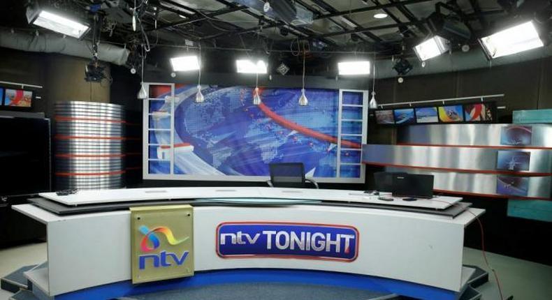 File image of an NTV studio in Nairobi
