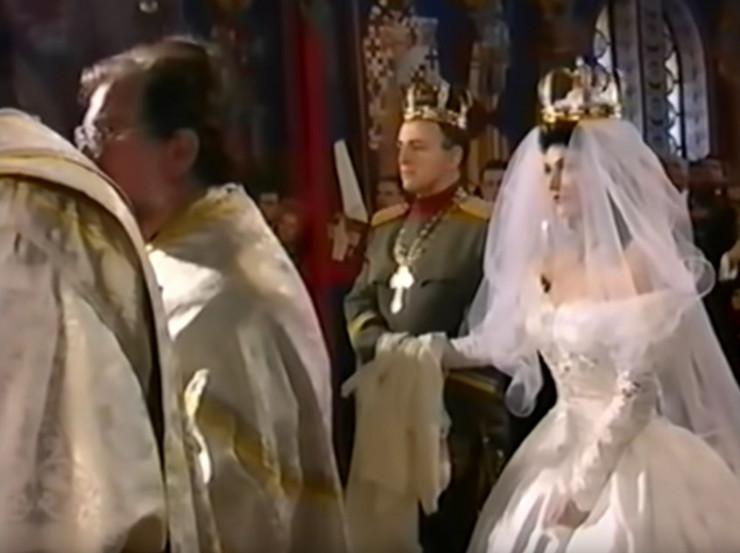 Ceca Ražnatović na svojoj svadbi