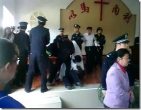 Church leaders being arrested