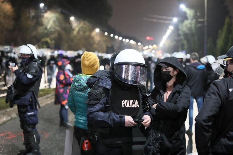 Warszawa. Protest przeciwko zaostrzeniu prawa aborcyjnego 1