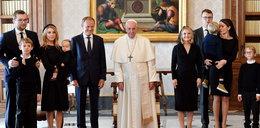 Donald Tusk z całą rodziną w Watykanie. Przedstawił papieżowi wnuczkę FOTO