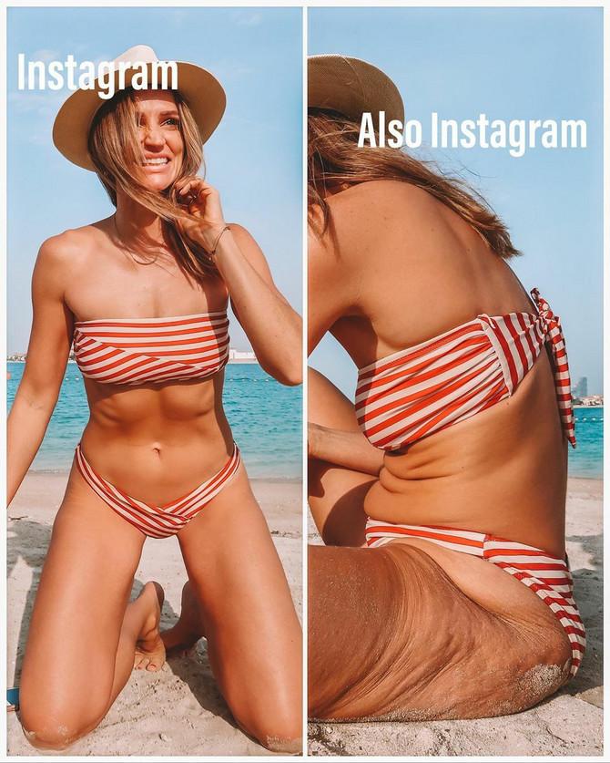 Instagram protiv realnosti, a deli ih samo jedna caka