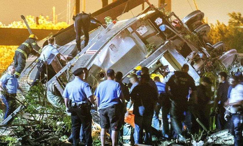 Katastrofa kolejowa w pobliżu Filadelfii