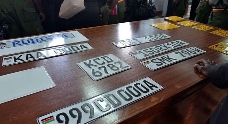 Kenyan number plates