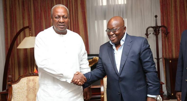 John Mahama and Nana Addo