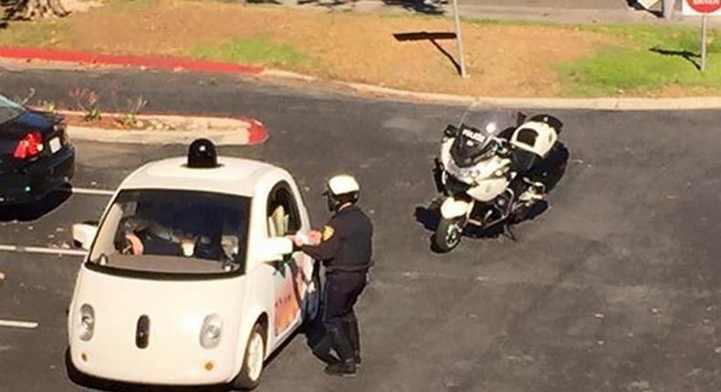 Slow Google self-driving car