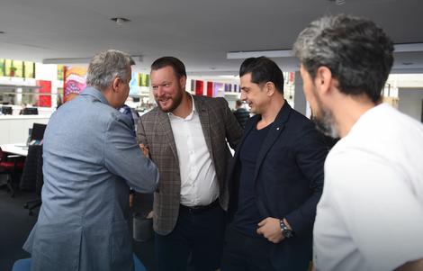 "Đurković, Butulija i Škrbić u redakciji ""Blica"""