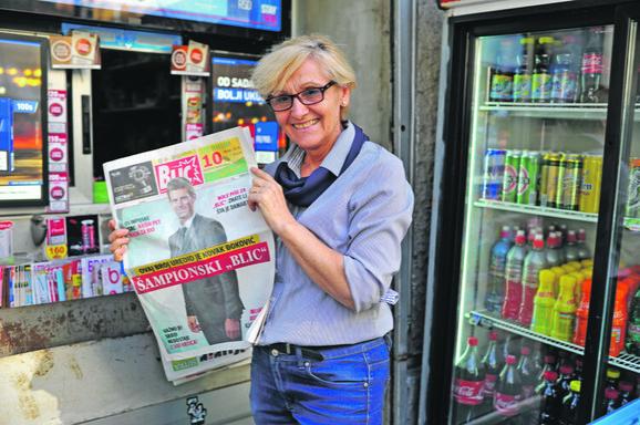 Razgrabljeni su svi primerci šampionskog Blica: Prodavačica Milka Pašalić