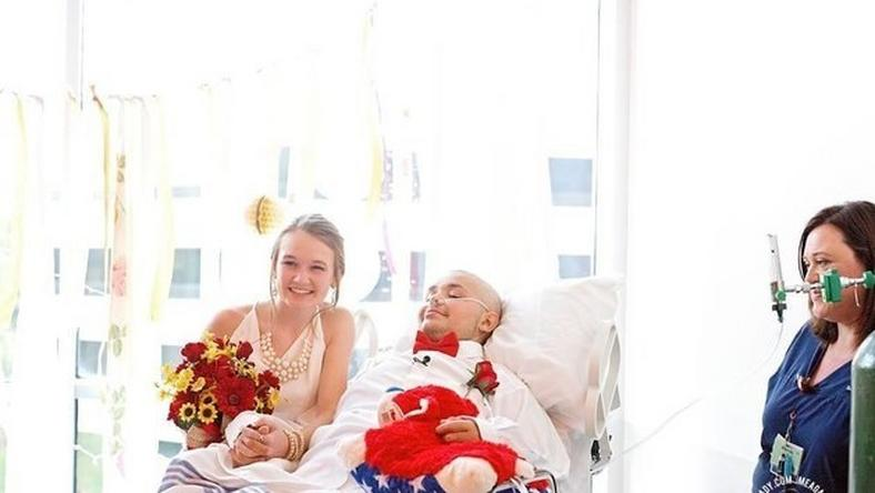 18-year-old battling with bone cancer marries his high school sweetheart in ICU