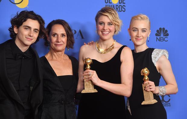Timothee Chalamet, Laurie Metcalf, Greta Gerwig i Saoirse Ronan