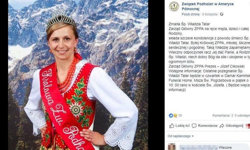 Górale żegnają królową. Nie żyje Władysława Tatar z Chicago