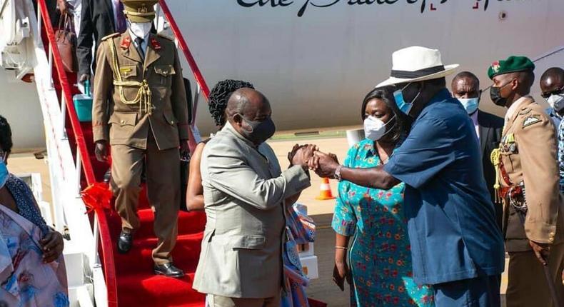 Raila Receives Uhuru's Madaraka Day Chief Guest in Kisumu