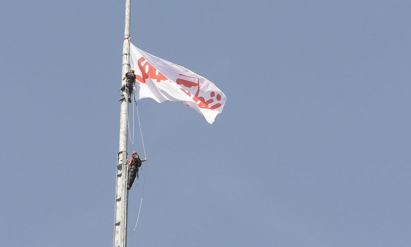 Flaga Solidarności znów zawiśnie na Iglicy