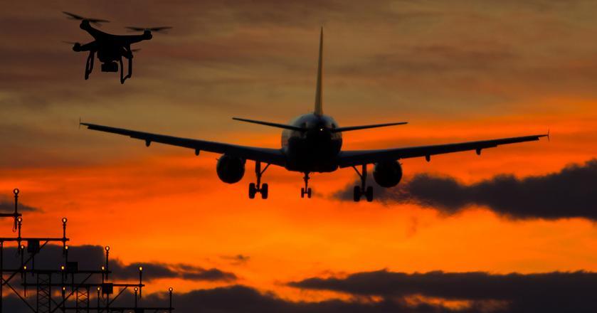 Drony w przestrzeni powietrznej to jedno z nowych wyzwań dla bezpieczeństwa lotnictwa