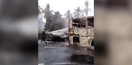 Zderzenie cysterny z autobusem w Meksyku. Zginęło co najmniej 20 osób