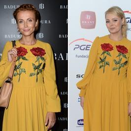 Zielińska i Jastrzębska w takiej samej sukience. Która wygląda lepiej?