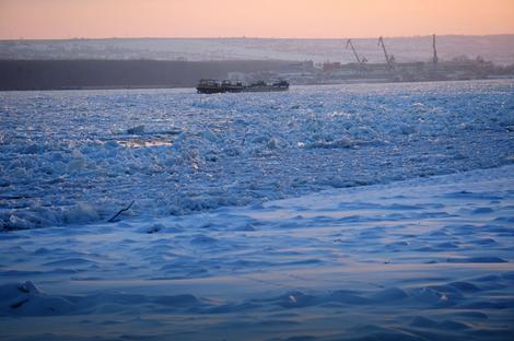 Led na Dunavu u Rumuniji