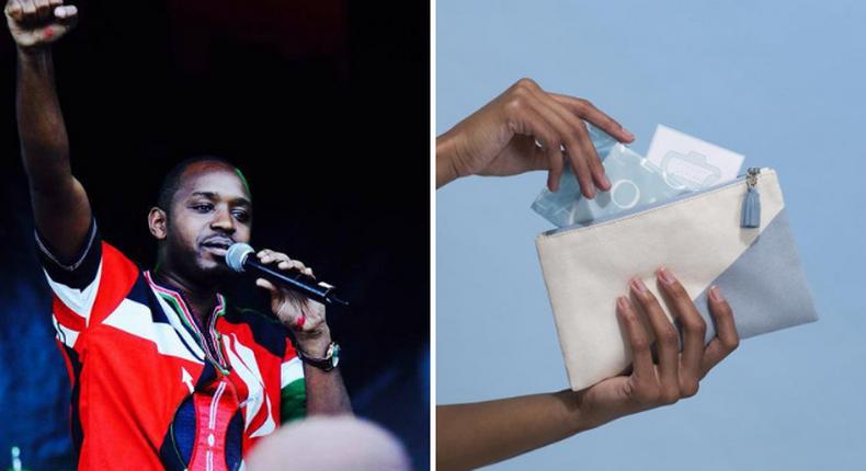 Why Boniface Mwangi is urging women to burn their sanitary pads (Courtesy)