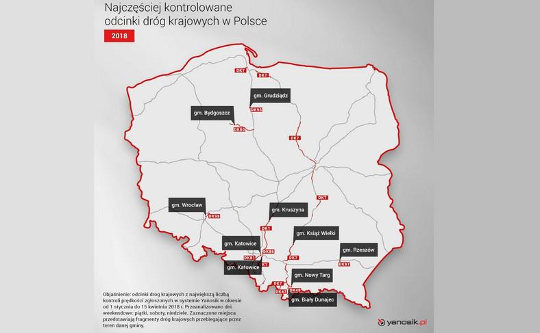 """Polskie drogi """"lubiane"""" przez policję"""