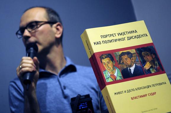 Vlastimir Sudar na promociji svoje knjige