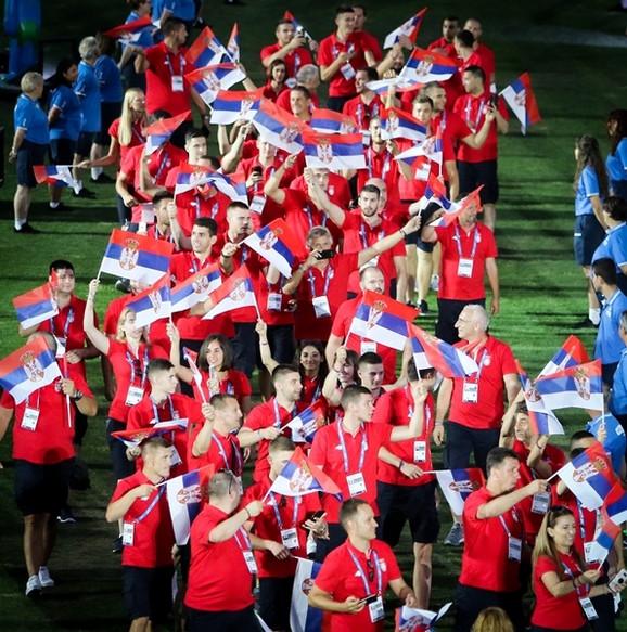 Srpski sportisti na otvaranju Igara u Taragoni