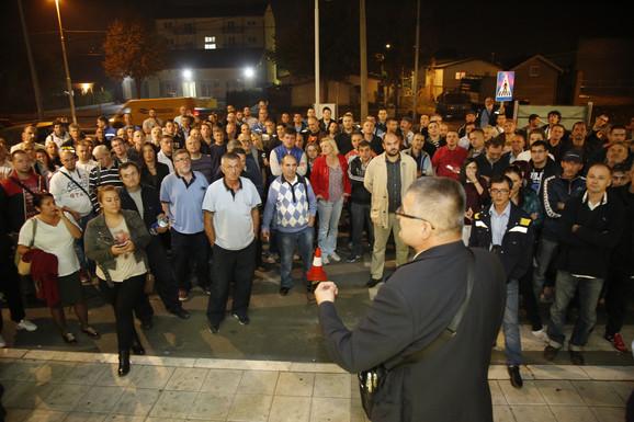 Protest radnika Pošte u Zemunu