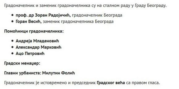 Zvaničan sajt Grada Beograda